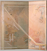 "Reflection, 1985, 48"" x 37"" (Two-Panel Folding Screen)"