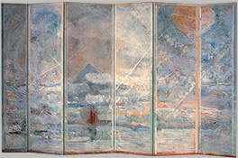 "Fuji, 1984, 81"" x 155"" (Six-Panel Folding Screen)"