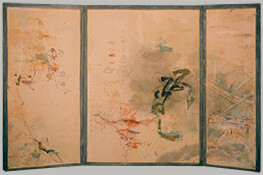 "Inland Sea II, 1984, 50"" x 81.5"" (Three-Panel Folding Screen)"