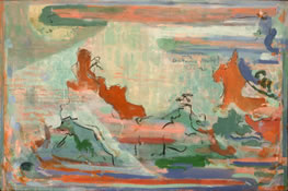 "Red Mountain, 1985, 44"" x 66"""