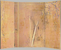 "Spring Light, 1988, 72"" x 95"" (Three-Panel Folding Screen)"