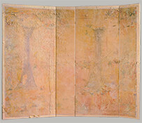 "Kinkakuji, 1978-1983, 76"" x 95"" (Four-Panel Folding Screen)"