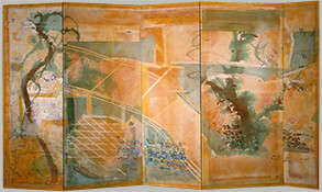 "Shih, 1984, 79"" x 156.5"" (Five-Panel Folding Screen)"