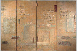 Tunhuang, 1971, (Four-Panel Folding Screen)