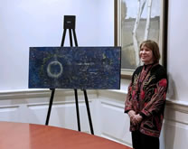 "Unveiling of Lerner's painting, ""Event Horizon"", Harvard University Collection, November 8, 2017"